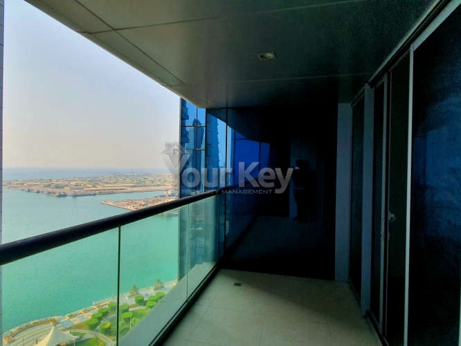 Calm with Scenic View of Corniche with Balcony